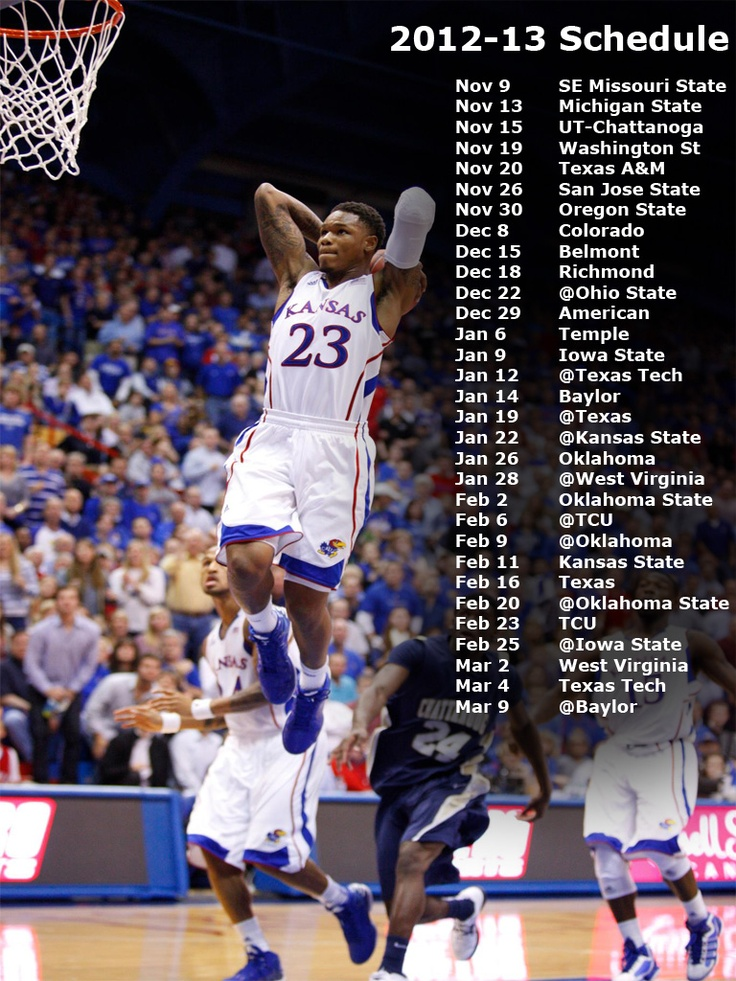 Keep up with the games with this KU calendar!