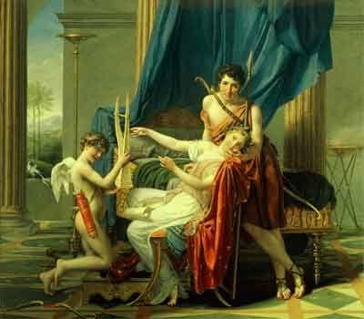 Ж.Л.Давид. Сафо и Фаон. 1809. Холст, масло. ГЭ