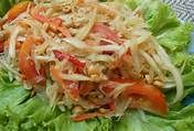 My Cooking diary : Vegetarian Som Tam Malakor (Thai papaya salad)
