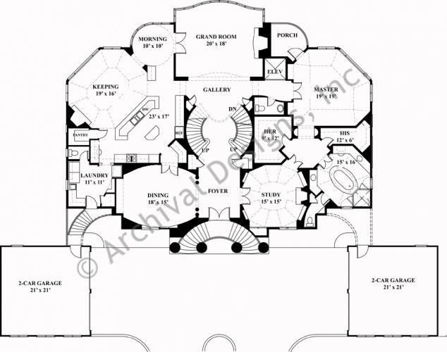Villa capri house plan classical first floor plan for Capri floor plan
