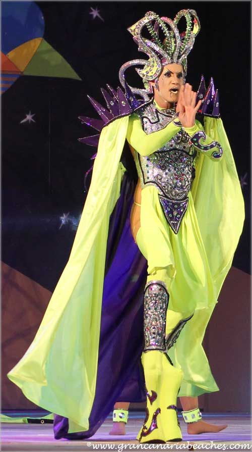 Drag Ziben was the third candidate in the 2013 Maspalomas Planet Drag Queen Contest held in Gran Canaria.
