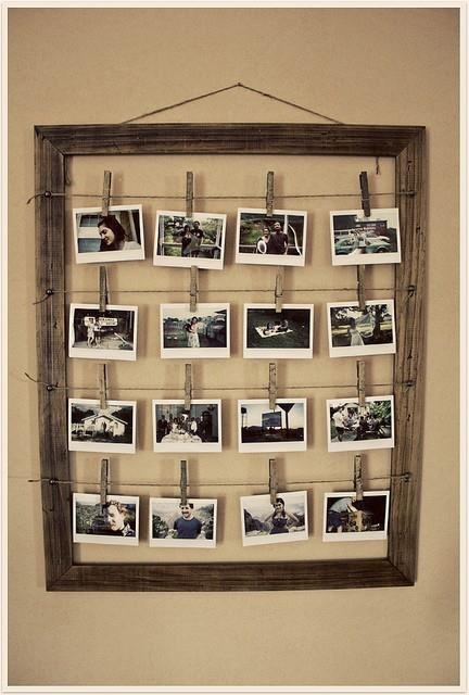 prety way to hang pictures
