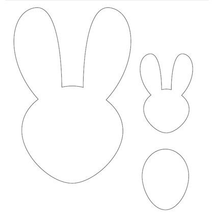 Easter Bunny Head Template