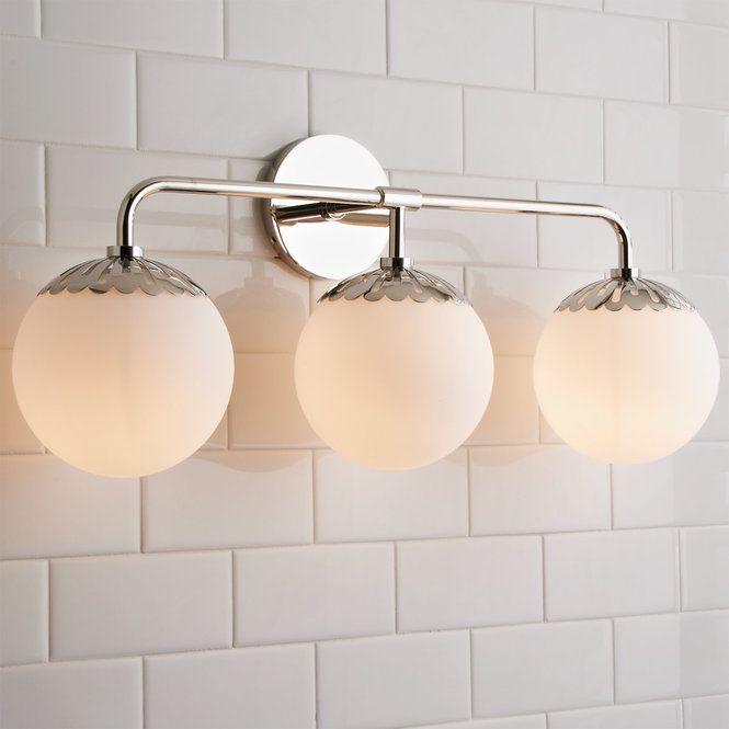 Dewdrop Globe Vanity Light 3 Light With Images Vanity