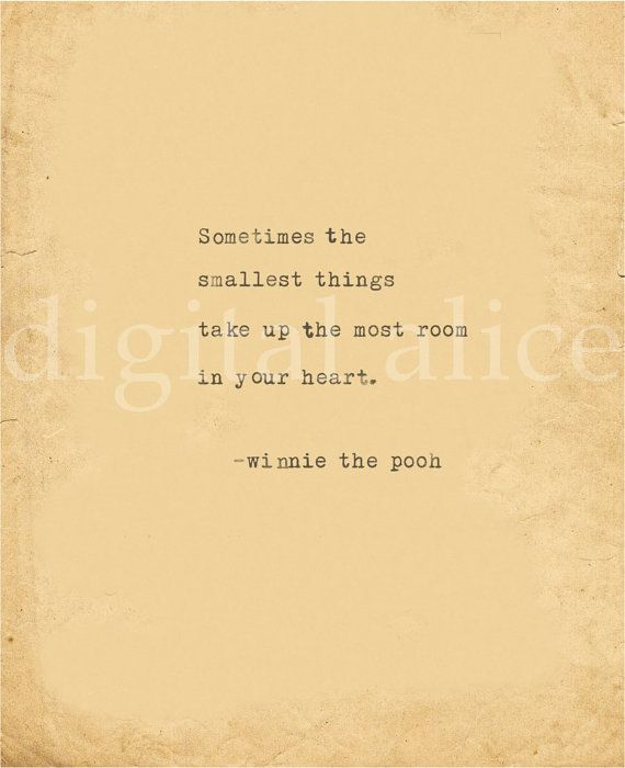 Winnie The Pooh Quotes Sometimes The Smallest Things: VINTAGE TYPEWRITER PRINT Winnie The Pooh Quote -Instant