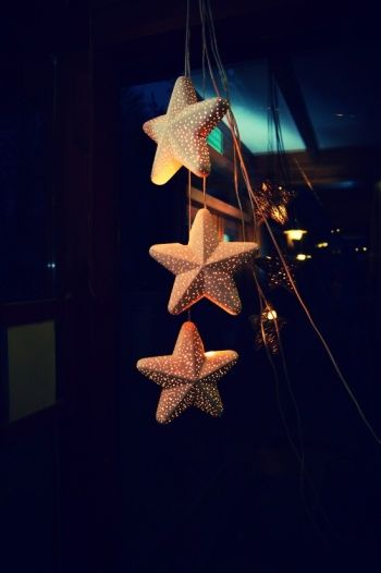 xmas decoration glowing stars