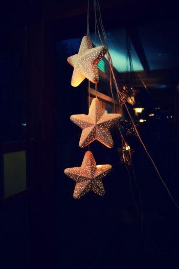 xmas decoration glowing stars