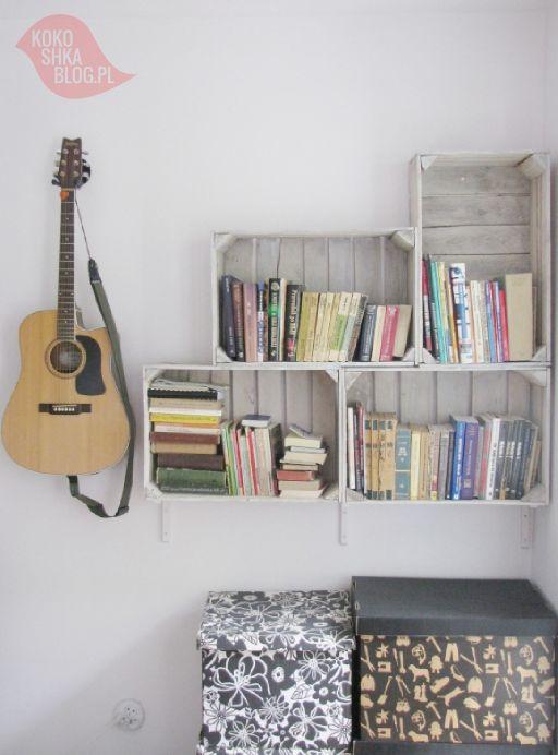 DIY: półki ze skrzynek na owoce na kokoshka.PL - dom + wystrój wnętrz + dekoracje + inspiracje + DIY