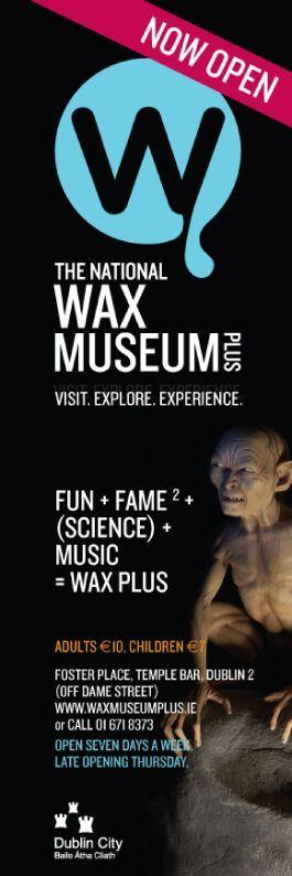 Wax Museum Plus Dublin Streetlamp Banners.