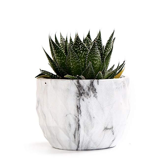 Sun E Modern Style Marbling Ceramic Flower Pot Succulent Cactus Planter Pots Container Bonsai Planters With Hole 3 35 Inch Perfect Gife Idea 4 In Set Affilia
