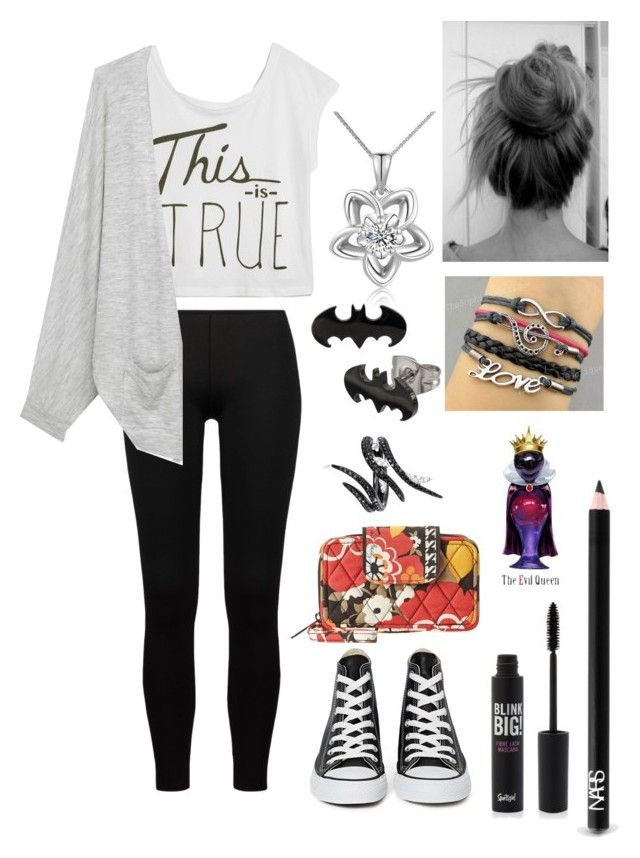 """""""Day with Niall"""" by talirae ❤ liked on Polyvore featuring True Religion, Only Hearts, rag & bone, Converse, NARS Cosmetics, Vera Bradley, MaBelle, AS29 and Disney"""