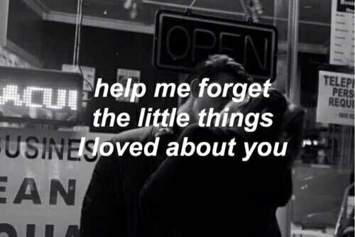 Help Me Forget The Little Things I Loved About You