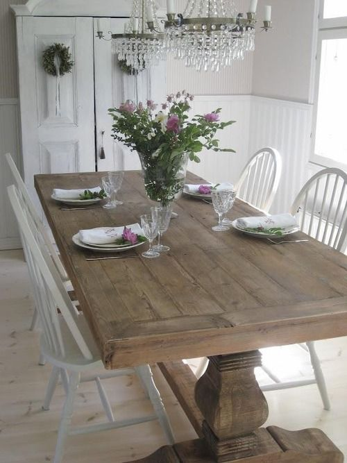 Dining room table - LOVE the table, would love benches along the sides and two chairs!!!