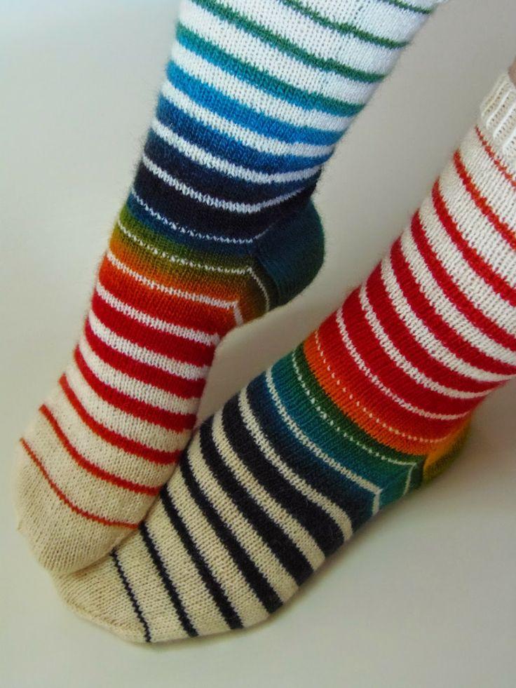 Lankaterapiaa: Symmetriaa - Socks like Venetian Blinds