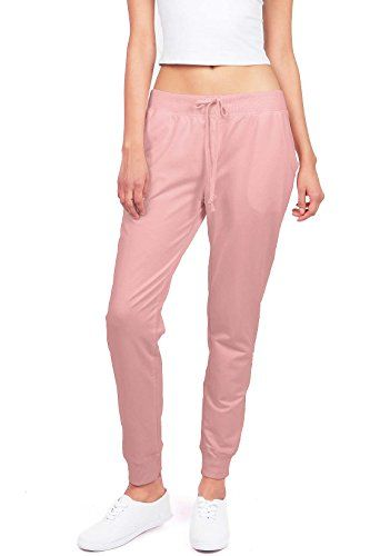 New Trending Pants: Ambiance Womens Juniors Soft Jogger Pants (M, Dusty Rose). Ambiance Women's Juniors Soft Jogger Pants (M, Dusty Rose)   Special Offer: $14.95      466 Reviews Soft and comfy drawstring pants with pockets on the side. Perfect for any casual day and also works well for a day at the gym!Soft and comfy drawstring pants with pockets on the side....
