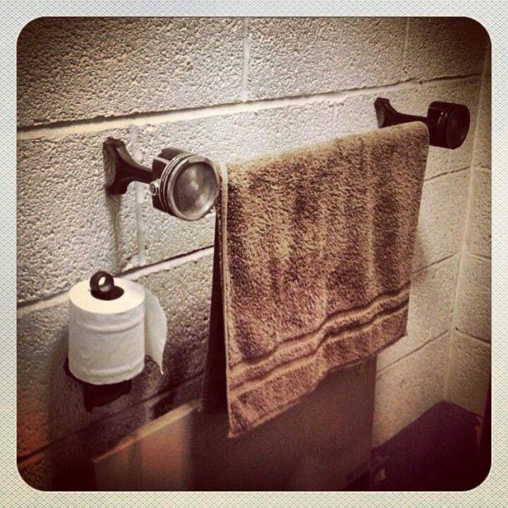 Pistons Rods towel rail toilet roll holder