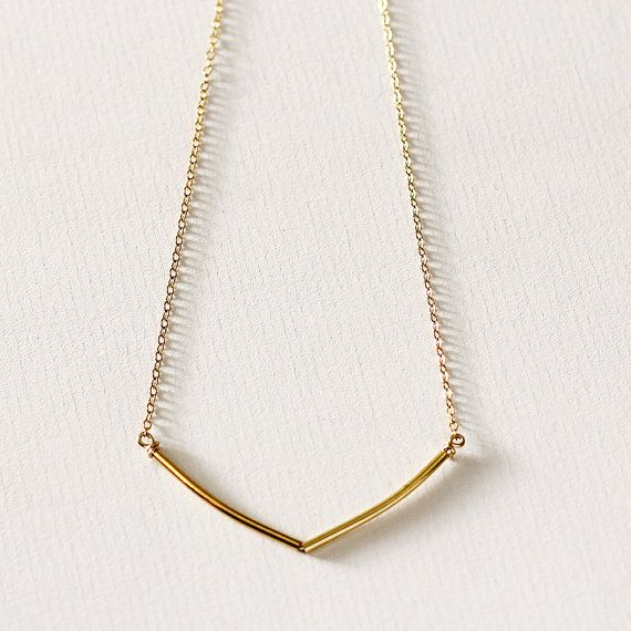 Sunlight delicate gold necklace geometric by MinettaJewellery