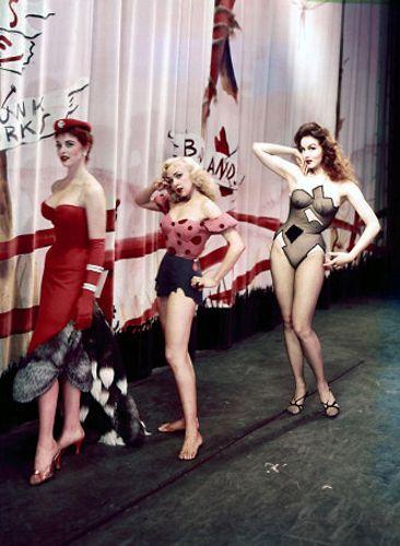 """Li'l Abner"" (1959) - Appassionata Von Climax (Stella Stevens), Daisy Mae (Leslie Parrish, and Stupefyin' Jones (Julie Newmar)"