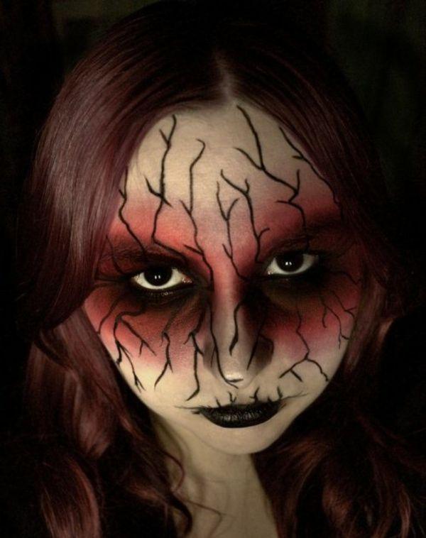 Schminken für Halloween Horror Gesicht  ideen