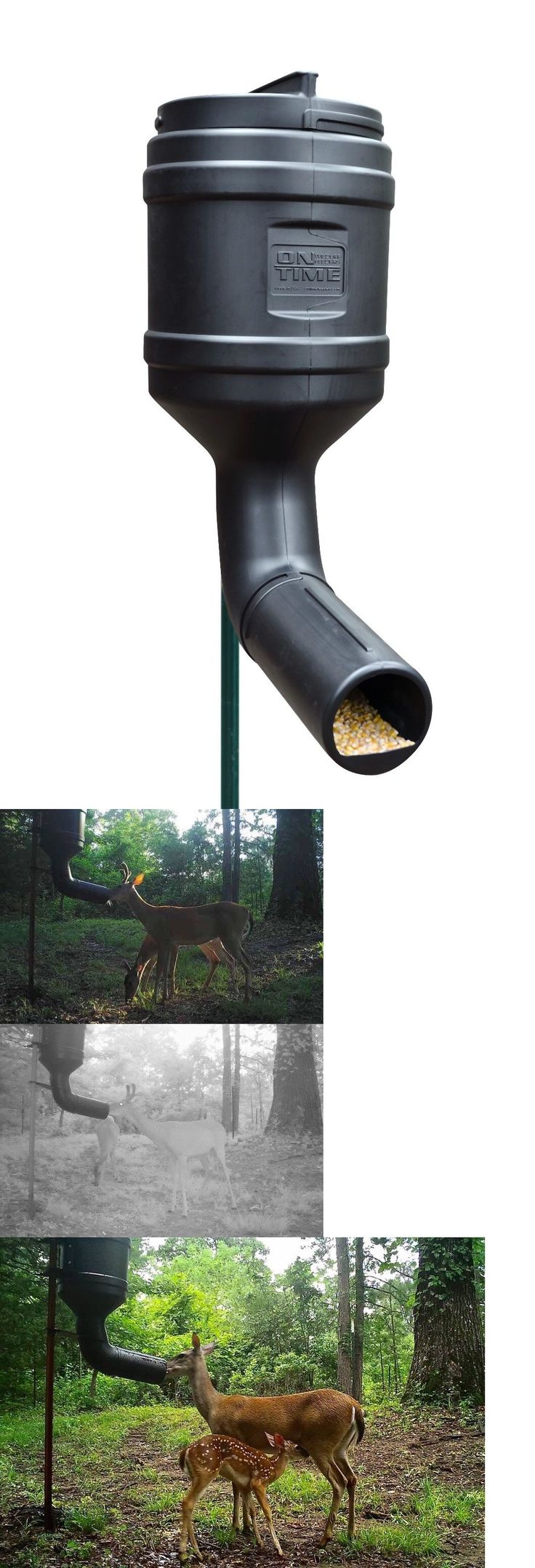 Game Feeders and Feed 52504: T Post Deer Feeder On-Time Feeder 80Lb Capacity Gravity Feeder Protein Feeder -> BUY IT NOW ONLY: $69.95 on eBay!