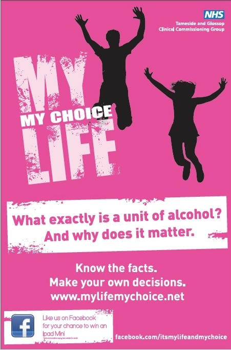 My Life My Choice alcohol poster