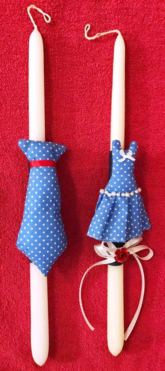 Mr & Mrs Blue vol1. Handmade Easter Candle by Glykeria @Mother&Daughter