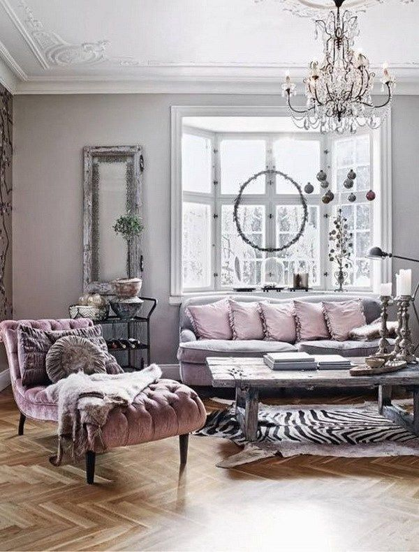 Living Room Decoration With Parisian Glamour Mixed With Rustic