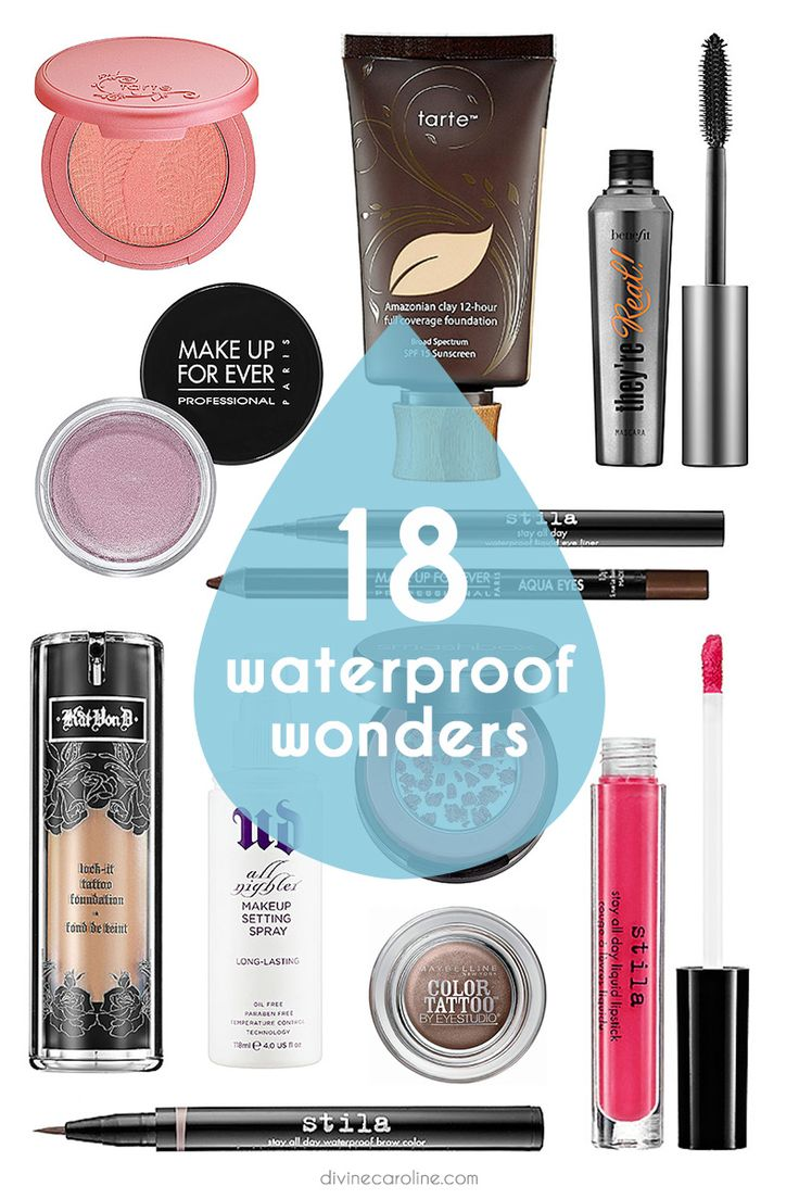 Keep your look locked in this spring with some budge-proof, smudge-proof, go-nowhere formulas that can stand up to spring rains! #makeup #waterproof