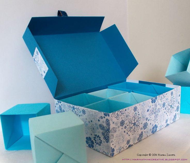 Scatola di carta blu.