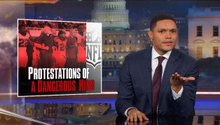 Daily Show with Trevor Noah September 25 2017 about the football kneeling protest and trump's mischaracterizations of the protest and players. Powerful and insightful.