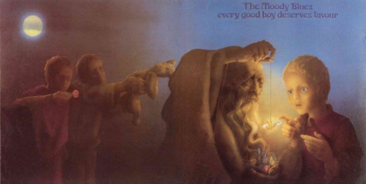 1986 The Moody Blues - Every Good Boy Deserves Favour [Threshold 820160-2] artwork: Phil Travers #albumcover (full) #illustration