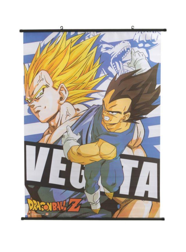 Character Design Dragon Ball Z : Dragon ball z wall scroll with vegeta character design