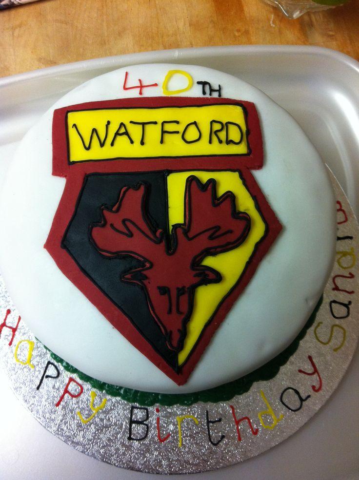 Birthday cake Watford fc Pinterest