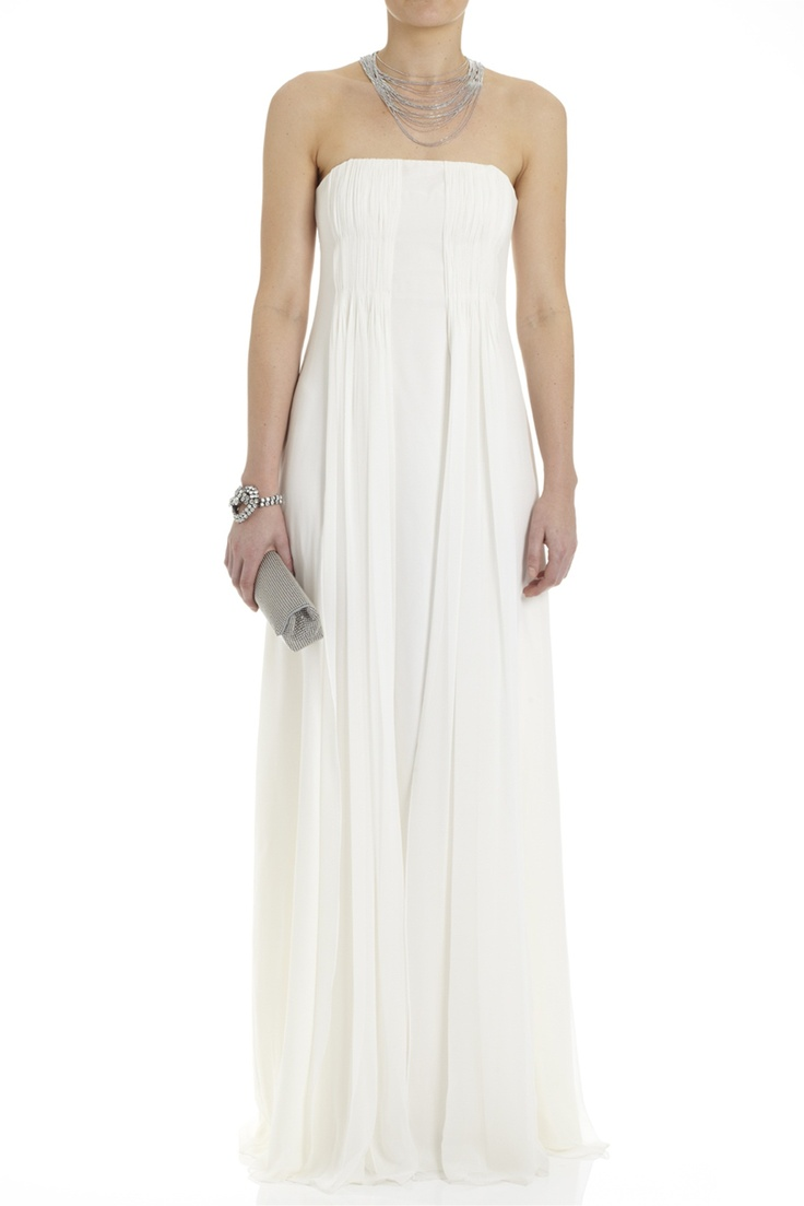 Dresses silk georgette strapless gown lisa ho diner for Silk georgette wedding dress