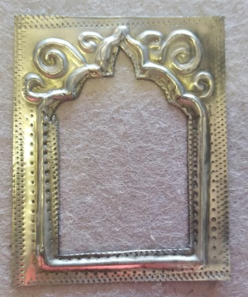 Buy Pewter Art Picture frame for Scrapbooking 7x5cm for R25.00