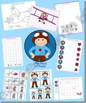 Summer Pilot Themed Multi-Skill Preschool Printables