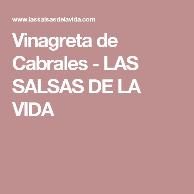 Vinagreta de Cabrales         -          LAS SALSAS DE LA VIDA