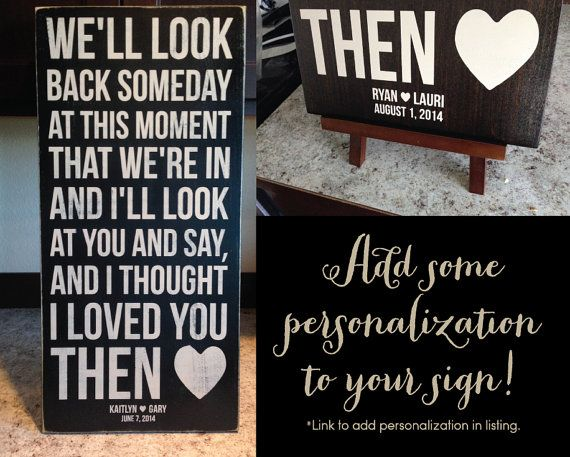 Brad Paisley Song Then Wood Sign by aubreyheath on Etsy