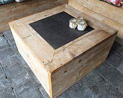 Overgebleven tegel combineren met steigerhout