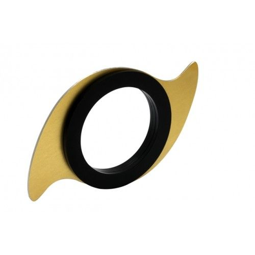 """Spinning Bracelet"" aluminum anodized in gold color and black matt plexiglas, the aluminum part spins around your wrist"