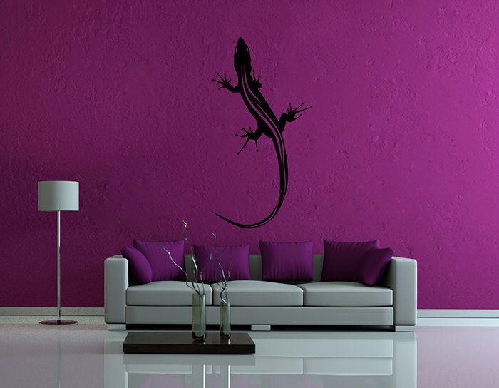 kik63 Wall Decal Sticker lizard salamander animal living room bedroom