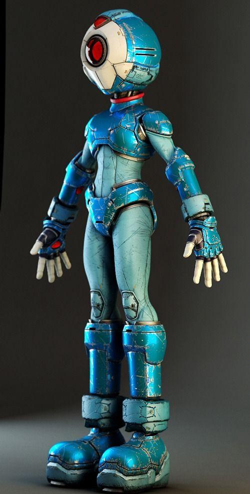 Mooi blauw en slanke vrouwelijke vormen: Pantheon Picture  (3d, sci-fi, character, robot)