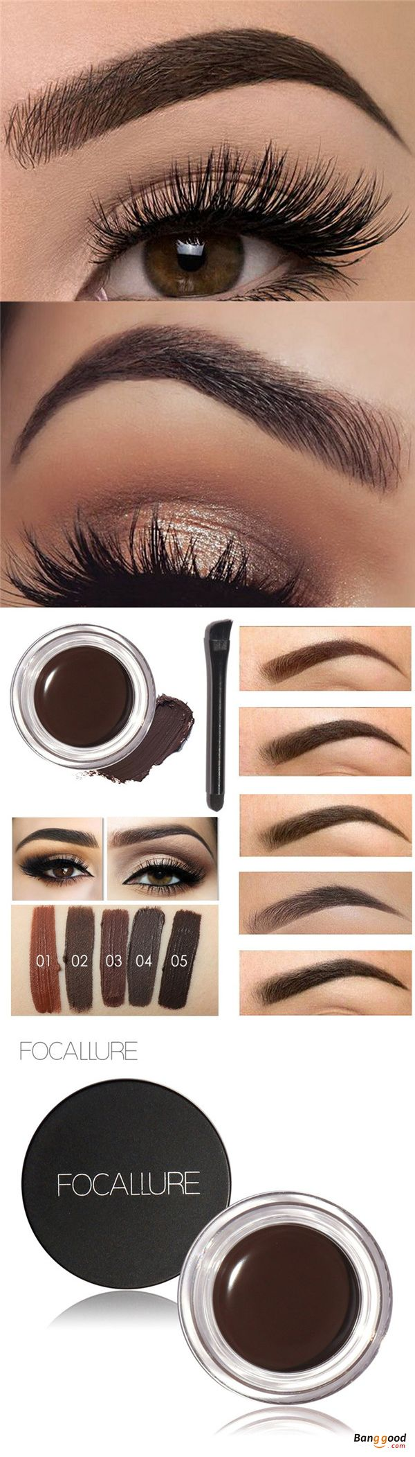 US$6.59 + Free shipping. The way to have the perfect eyebrows and  pretty makeup looks.  FOCALLURE Eyebrow Enhancer. Easy to Wear, Long-lasting, Natural.  LOVE IT!