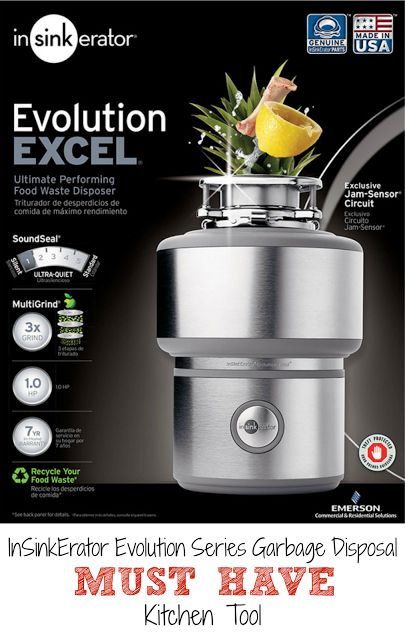 InSinkErator Evolution Excel Garbage Disposal - my MUST HAVE kitchen tool. I did all the research so you don't have to! I can't live without this in my kitchen!