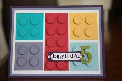 Lego - girl - card!