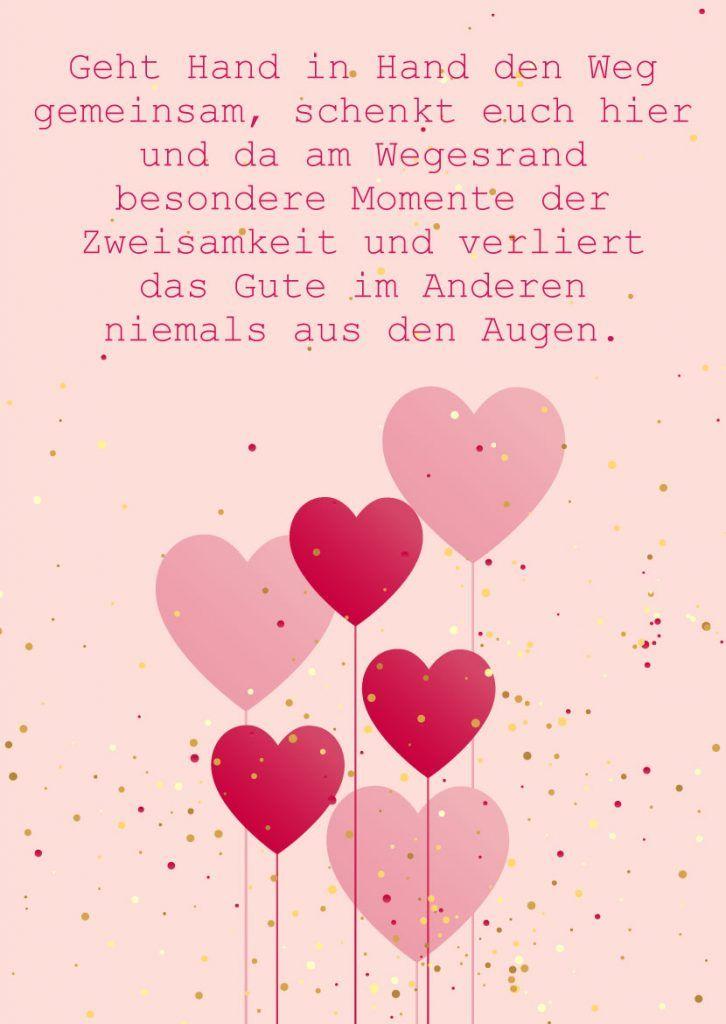Hochzeitsgrusskarte Mit Spruch Und Herzmotiv Herzlichen Gluckwunsch Zur Hochzeit Spruche Hochzeit Hochzeitstag Spruche