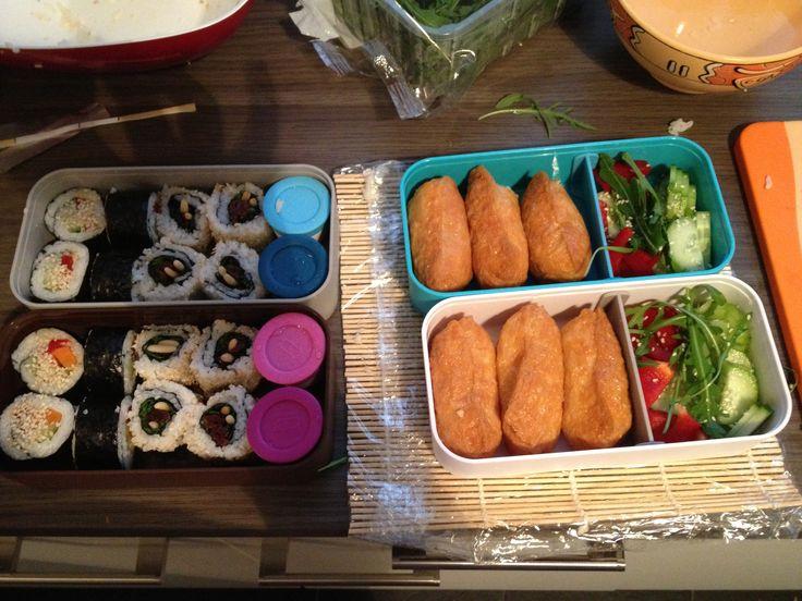 Bento box vegan sushi  - Веганские суши