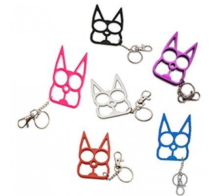 Cat Self Defense Keychain - Various colors