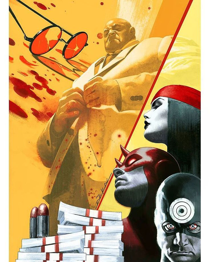 Another #Kingpin comes to power! My new cover for Kingpin 1. #daredevil #elektra #bullseye