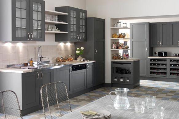 Une Cuisine Authentique Intended For Cuisine Authentique Kitchen Remodel Kitchen Grey Kitchen
